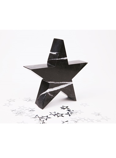 3Wdesign Yıldız Mermer Küçük Boy Obje Siyah